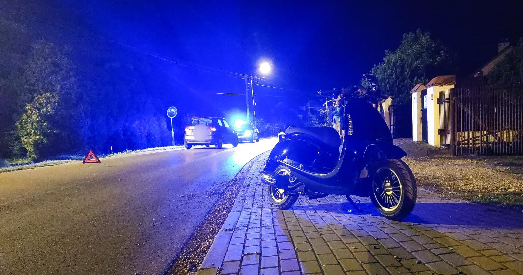 Zderzenie osobówki z motorowerzystą [FOTO, VIDEO] - Zdjęcie główne