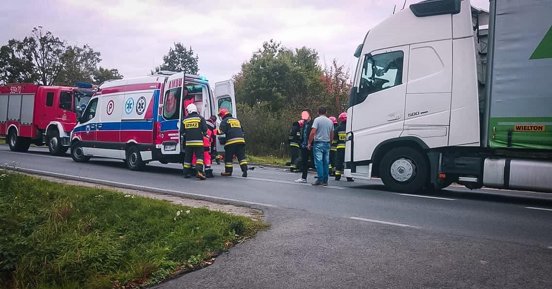 Wypadek na drodze Mielec - Radomyśl Wielki - Zdjęcie główne