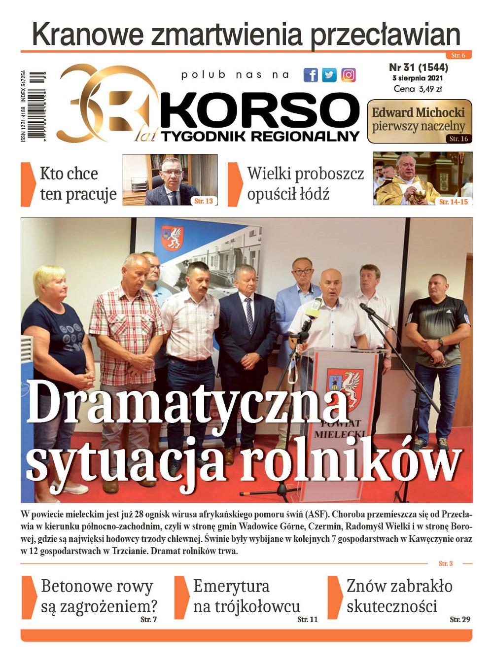 Tygodnik Regionalny KORSO nr 31/2021 - Zdjęcie główne