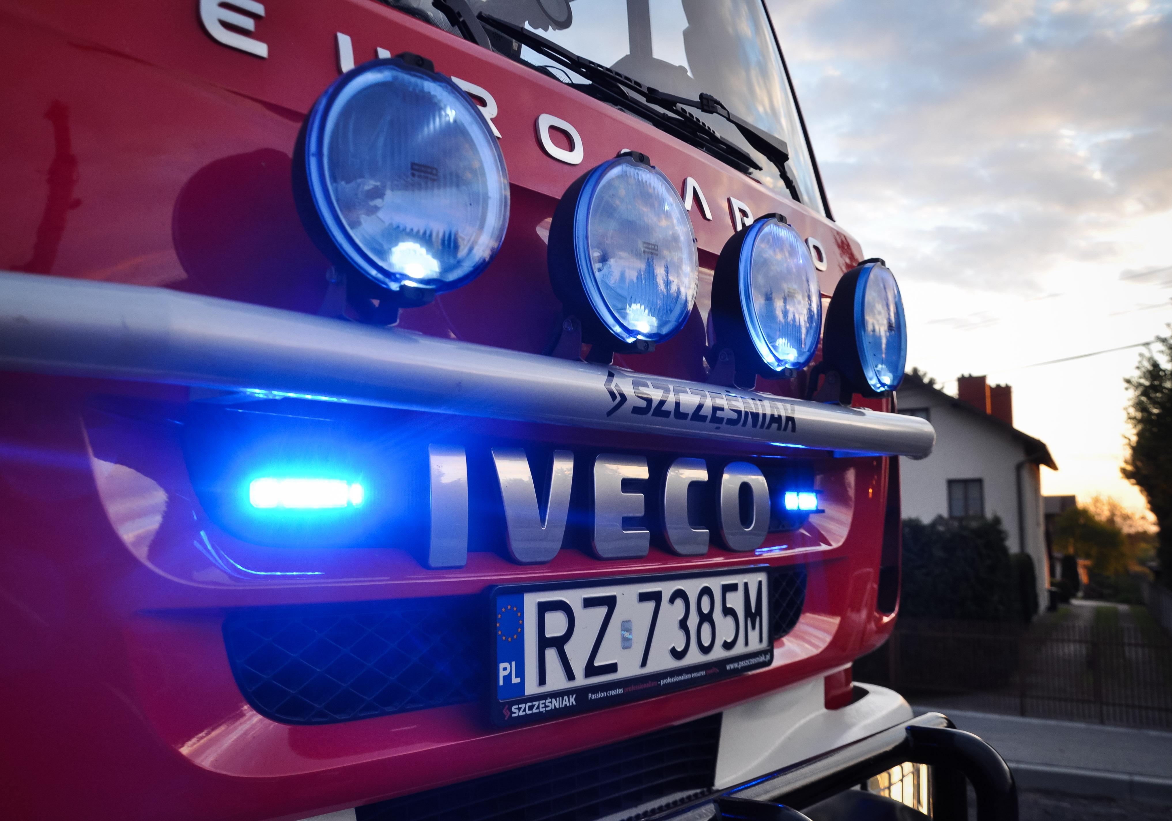 Strażacy gasili pożar w Chorzelowie - Zdjęcie główne