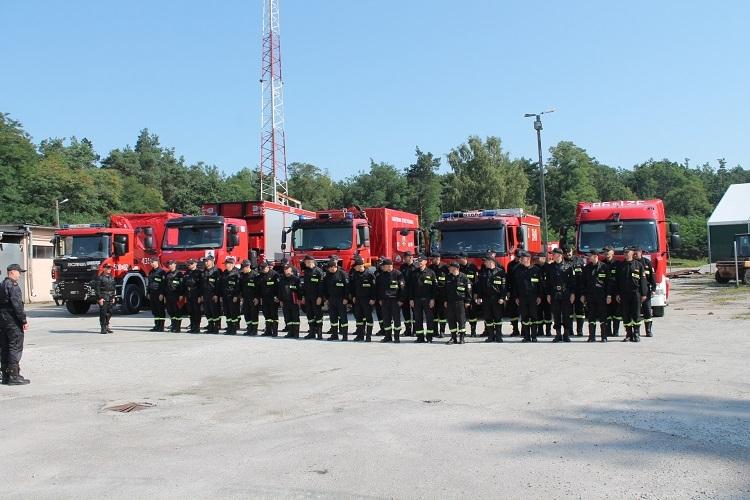 Strażacy z Podkarpacia ćwiczyli w Otałęży - Zdjęcie główne