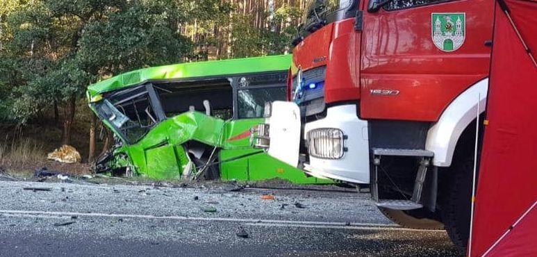 Pierwsze ustalenia śledczych po zderzeniu autobusu PKS z busem transportu medycznego - Zdjęcie główne