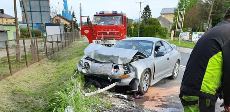 Auto w ogniu! Dwie osoby ranne [ZDJĘCIA] - Zdjęcie główne