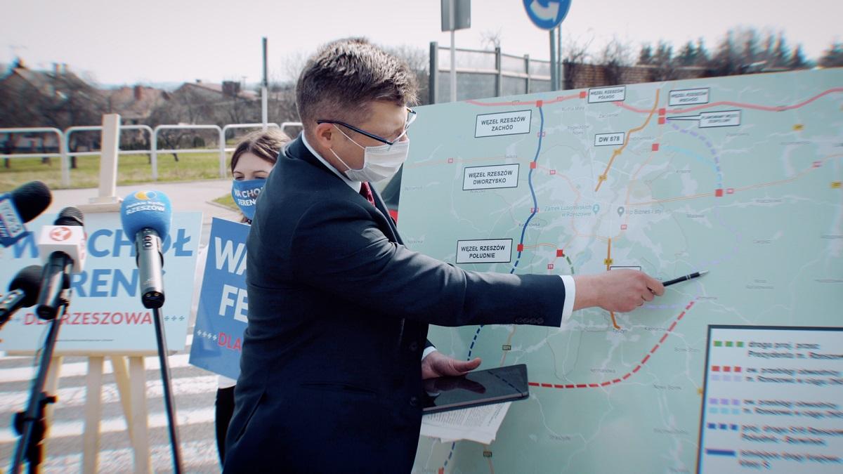 Kolejne obietnice wyborcze Marcina Warchoła. Chodzi o budowę obwodnicy Rzeszowa  - Zdjęcie główne