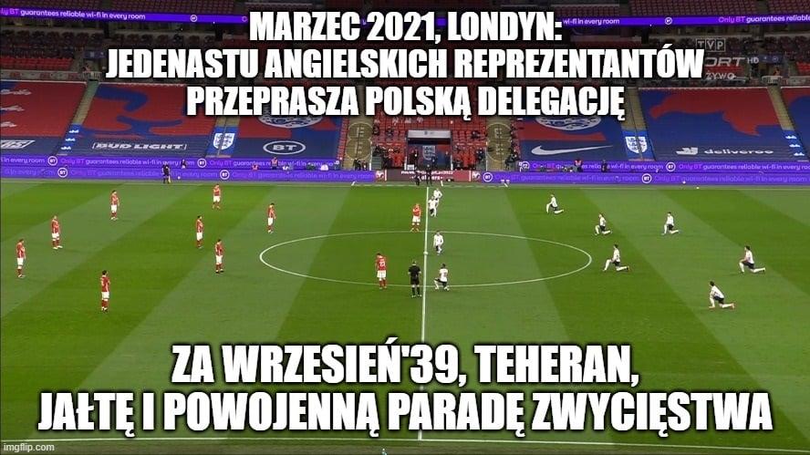 Memy po meczu Anglia - Polska: klękanie, Jezus i sąsiedzka uszczypliwość [ZDJĘCIA] - Zdjęcie główne