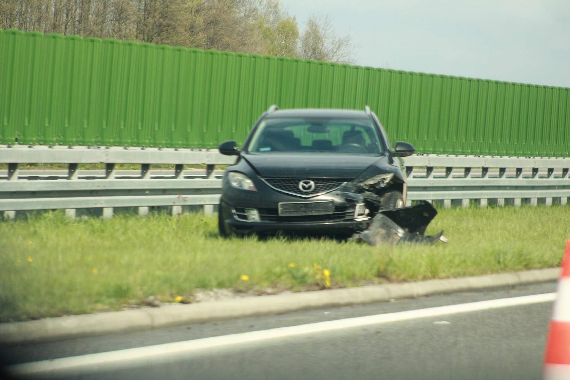Wypadek na autostradzie A4! - Zdjęcie główne
