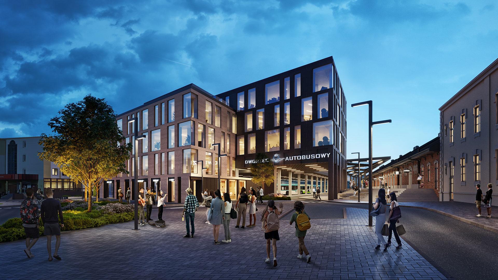 Projekt nowego dworca PKS w Rzeszowie. Koncepcja zakłada także hotel, punkty handlowe i usługowe [WIZUALIZACJA] - Zdjęcie główne