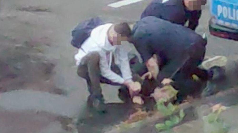 NOWE USTALENIA! Policjant dusi kolanem Bartka z Lubina? To wtedy zmarł? [WIDEO] - Zdjęcie główne