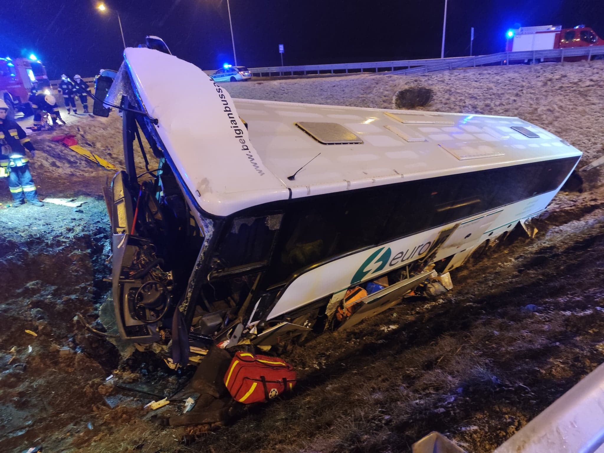 TRAGEDIA NA A4! Czy powodem wypadku mogła być śliska droga? [ZDJĘCIA, MAPA] - Zdjęcie główne
