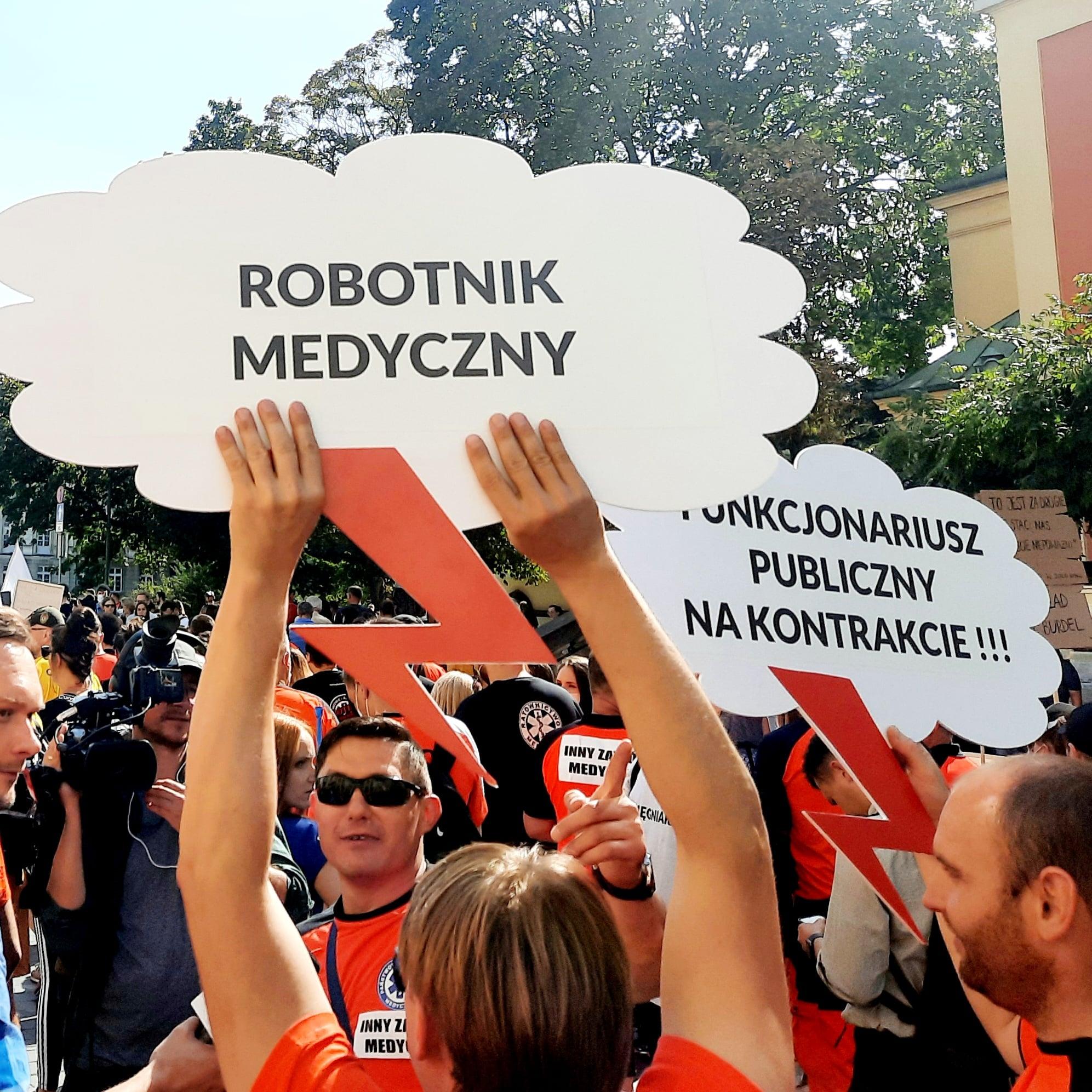 Podkarpaccy medycy protestowali w Warszawie! [ZDJĘCIA] - Zdjęcie główne