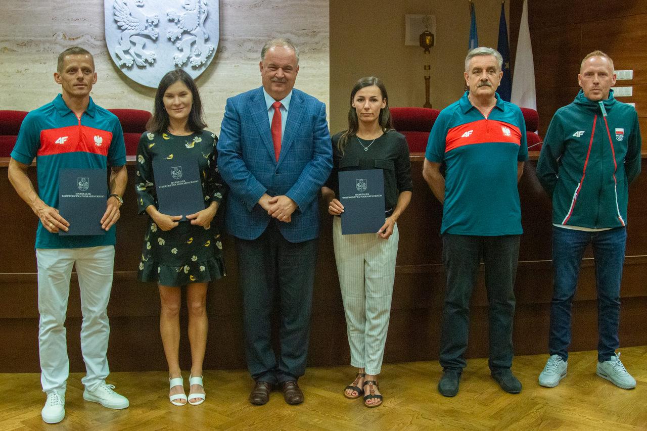 Podkarpaccy olimpijczycy z wizytą u marszałka [ZDJĘCIA] - Zdjęcie główne