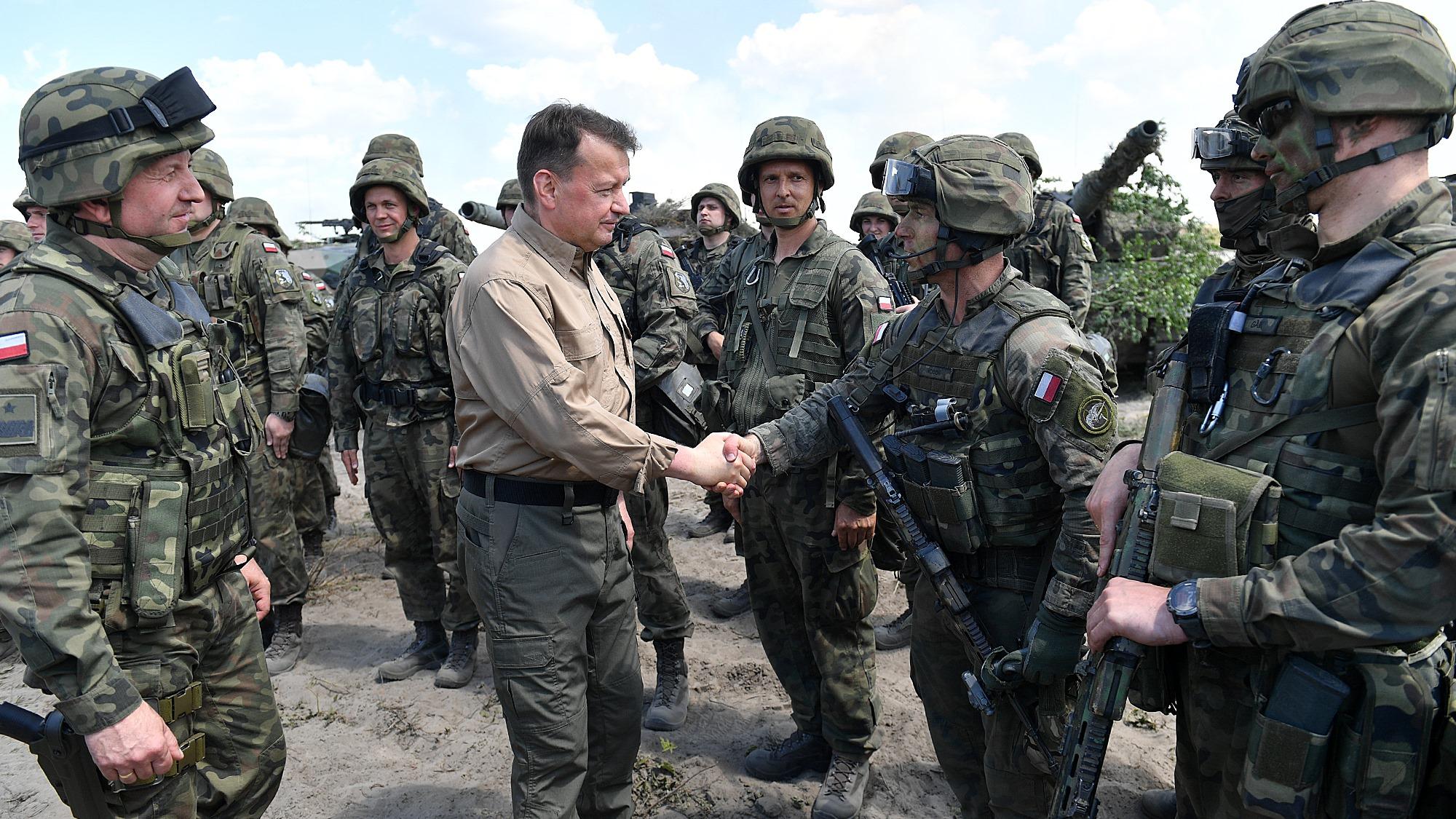 Minister obrony narodowej obserwował ćwiczenia DRAGON-21 [ZDJĘCIA, WIDEO] - Zdjęcie główne