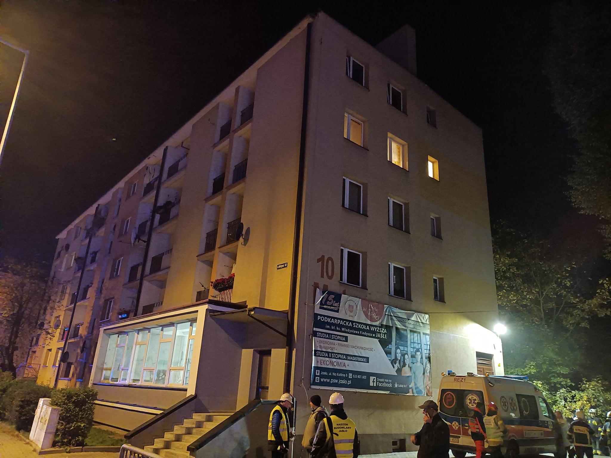 Budynek wielorodzinny w Jaśle grozi zawaleniem. Ewakuacja mieszkańców! [AKTUALIZACJA] - Zdjęcie główne