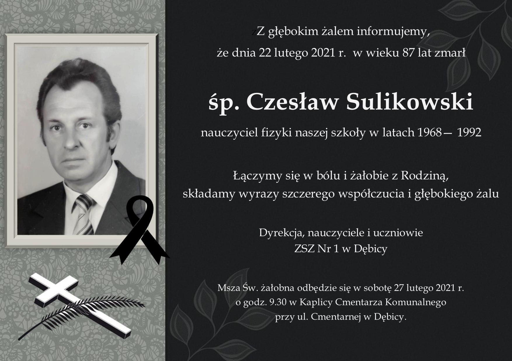 Zmarł podkarpacki nauczyciel. Nie żyje Czesław Sulikowski - Zdjęcie główne