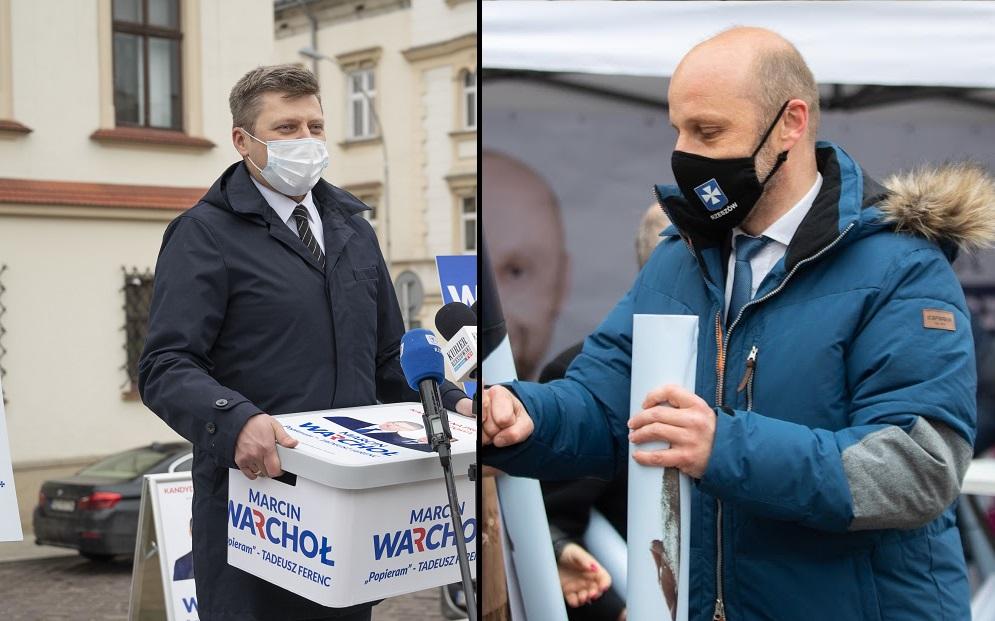 Warchoł i Fijołek zarejestrowali swoją kandydaturę na prezydenta Rzeszowa. Ile podpisów udało im się zebrać? - Zdjęcie główne