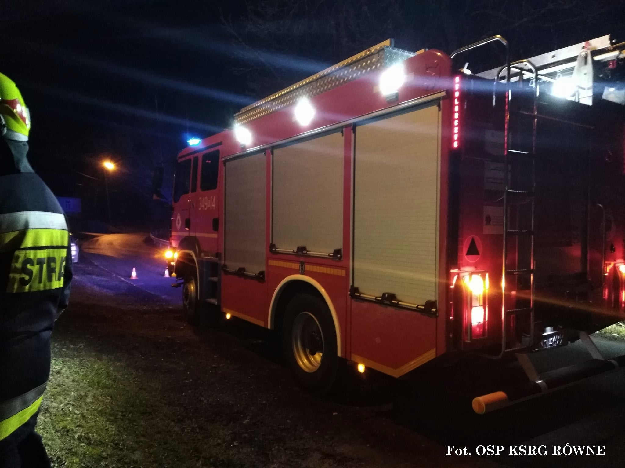 W kotłowni w Równem wybuchł pożar. Na miejsce udali się strażacy - Zdjęcie główne