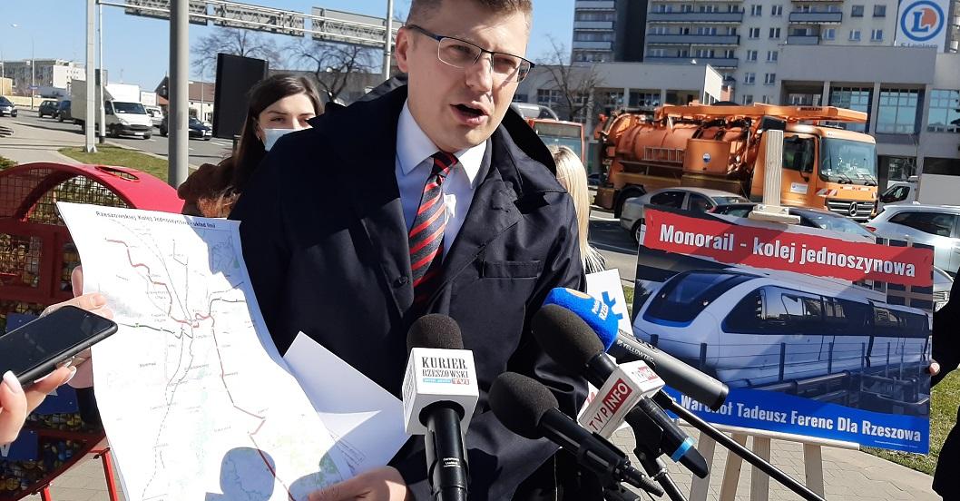 Marcin Warchoł obiecuje mieszkańcom, że zbuduje w mieście kolejkę nadziemną [ZDJĘCIA, TRASA] - Zdjęcie główne