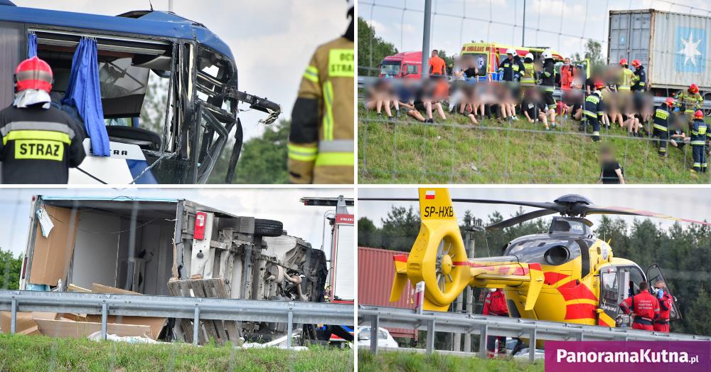 Z KRAJU: Zderzenie autokaru z dziećmi z ciężarówką! Są ranni! [ZDJĘCIA] - Zdjęcie główne