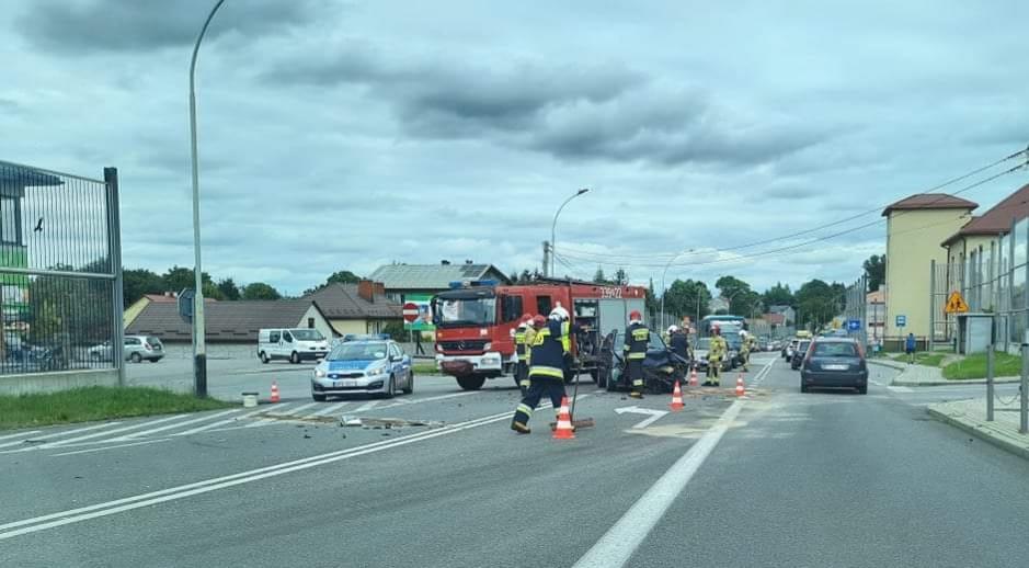 Wypadek w Świlczy na drodze krajowej 94!  [ZDJĘCIE] - Zdjęcie główne