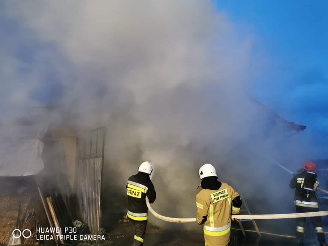 Pożar budynku w Mechowcu [ZDJĘCIA] - Zdjęcie główne