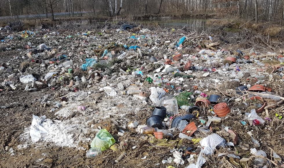 Przysypane ziemią hałdy śmieci są niewidoczne dla kolbuszowskich urzędników  - Zdjęcie główne