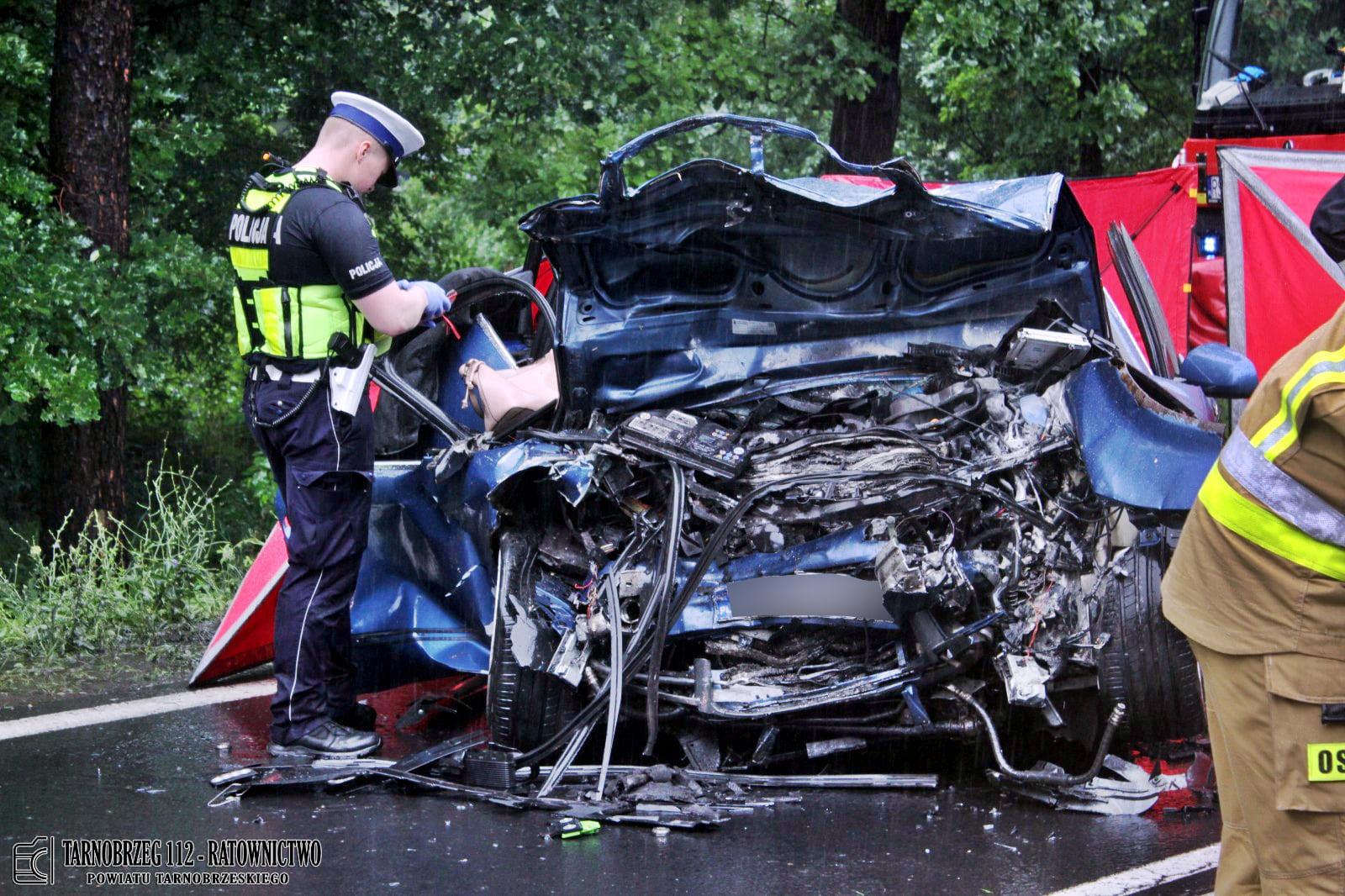Podkarpacie: Sprawca wypadku pod Stalową Wolą tłumaczy, że nie spożywał alkoholu i jechał prawidłowo - Zdjęcie główne
