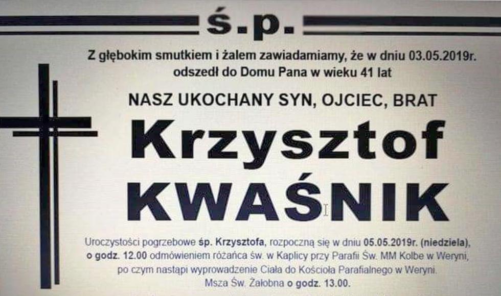 Nie żyje Krzysztof Kwaśnik - były prezes Werynianki Werynia - Zdjęcie główne
