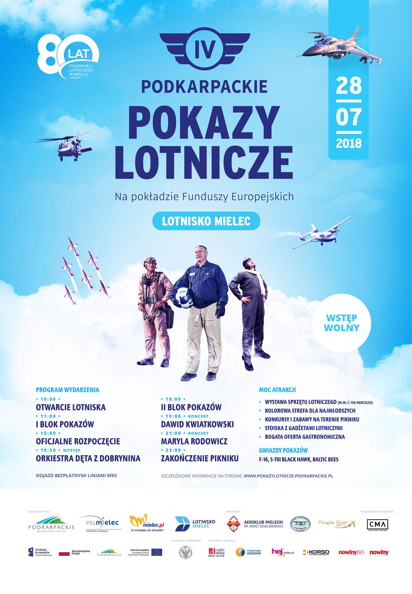 Pokazy lotnicze 2018 w Mielcu [PROGRAM, JAK DOJECHAĆ, KONCERTY] - Zdjęcie główne