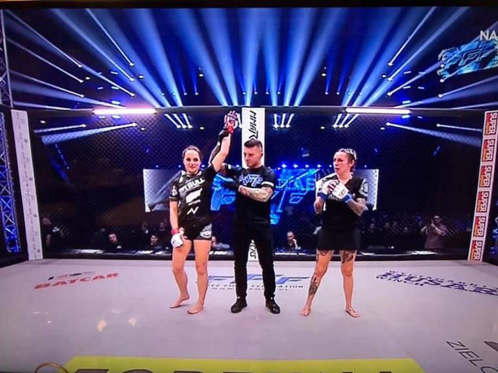 Justyna Haba z Podkarpacia zwyciężyła walkę na gali FFF2 - Zdjęcie główne