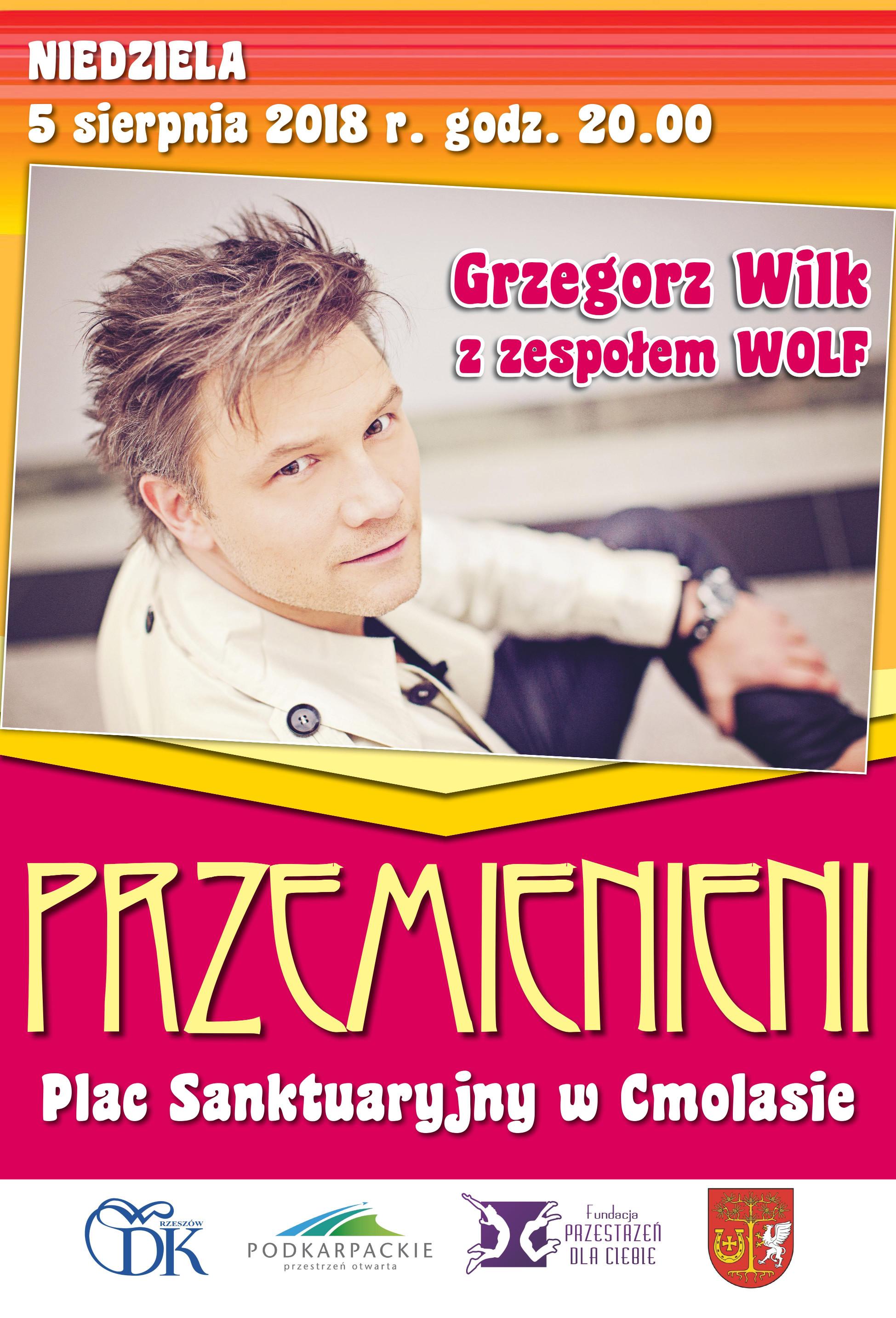 Gmina Cmolas. Koncert Grzegorza Wilka i zespołu Wolf na Placu Sanktuaryjnym w Parafi Cmolas - Zdjęcie główne