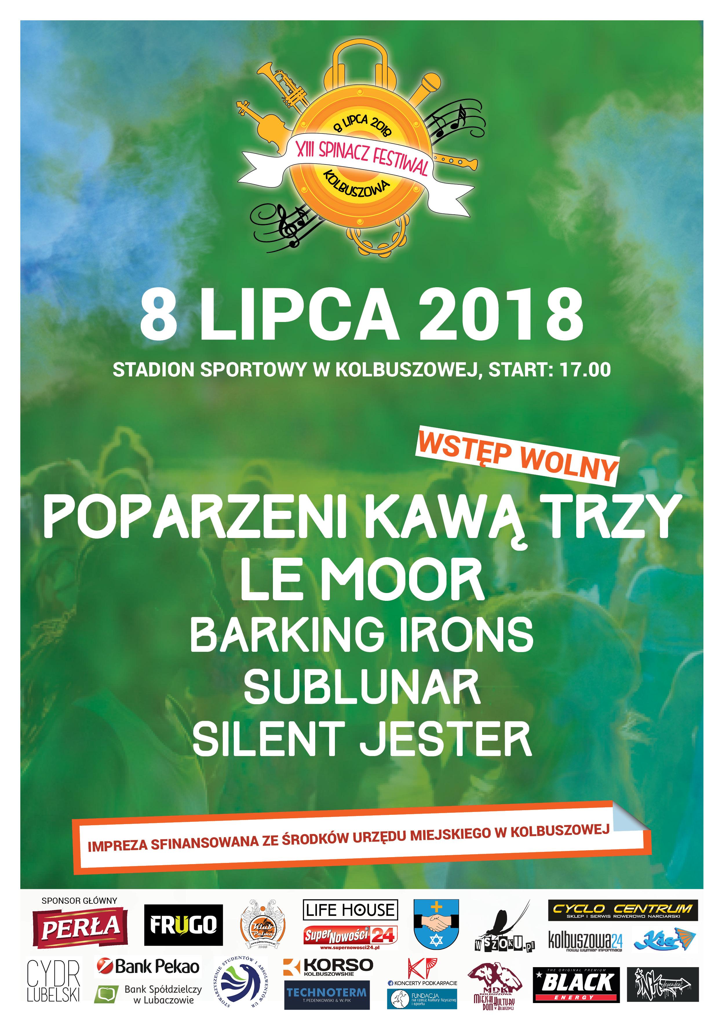 Spinacz 2018 z koncertem Poparzeni Kawą Trzy. Festiwal muzyczny odbędzie się na stadionie w Kolbuszowej  - Zdjęcie główne