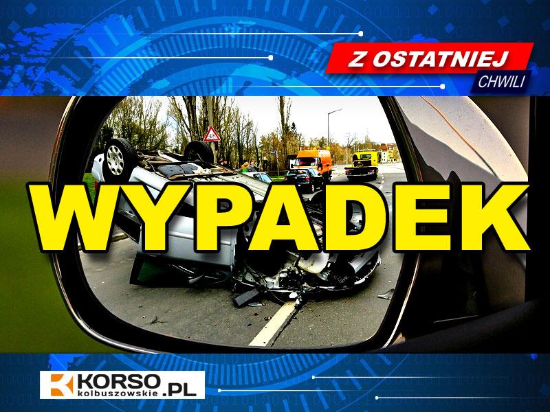 Wypadek w Cmolasie. Do zdarzenia doszło dziś, na krajowej drodze nr 9. Na miejscu pracują służby ratunkowe  - Zdjęcie główne