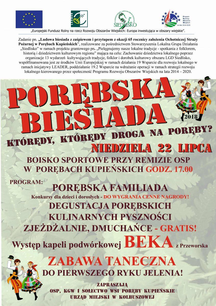 Gmina Kolbuszowa. Przed nami Porębska Biesiada w Porębach Kupieńskich, czyli zabawa do pierwszego ryku jelenia  - Zdjęcie główne