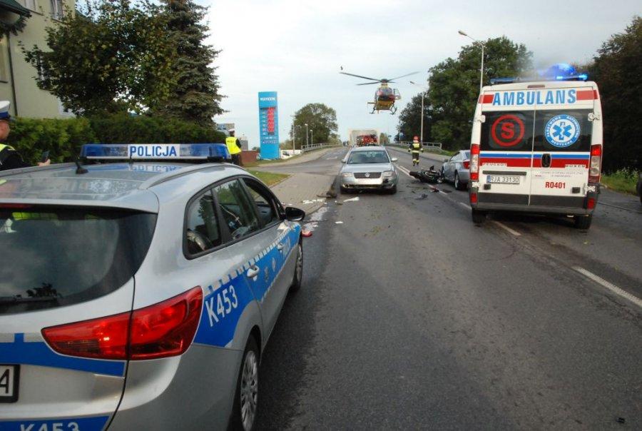 Podkarpacie. W sobotę, 22 września doszło do tragicznego wypadku. W wypadku w Jarosławiu zginął 18-letni motocyklista - Zdjęcie główne