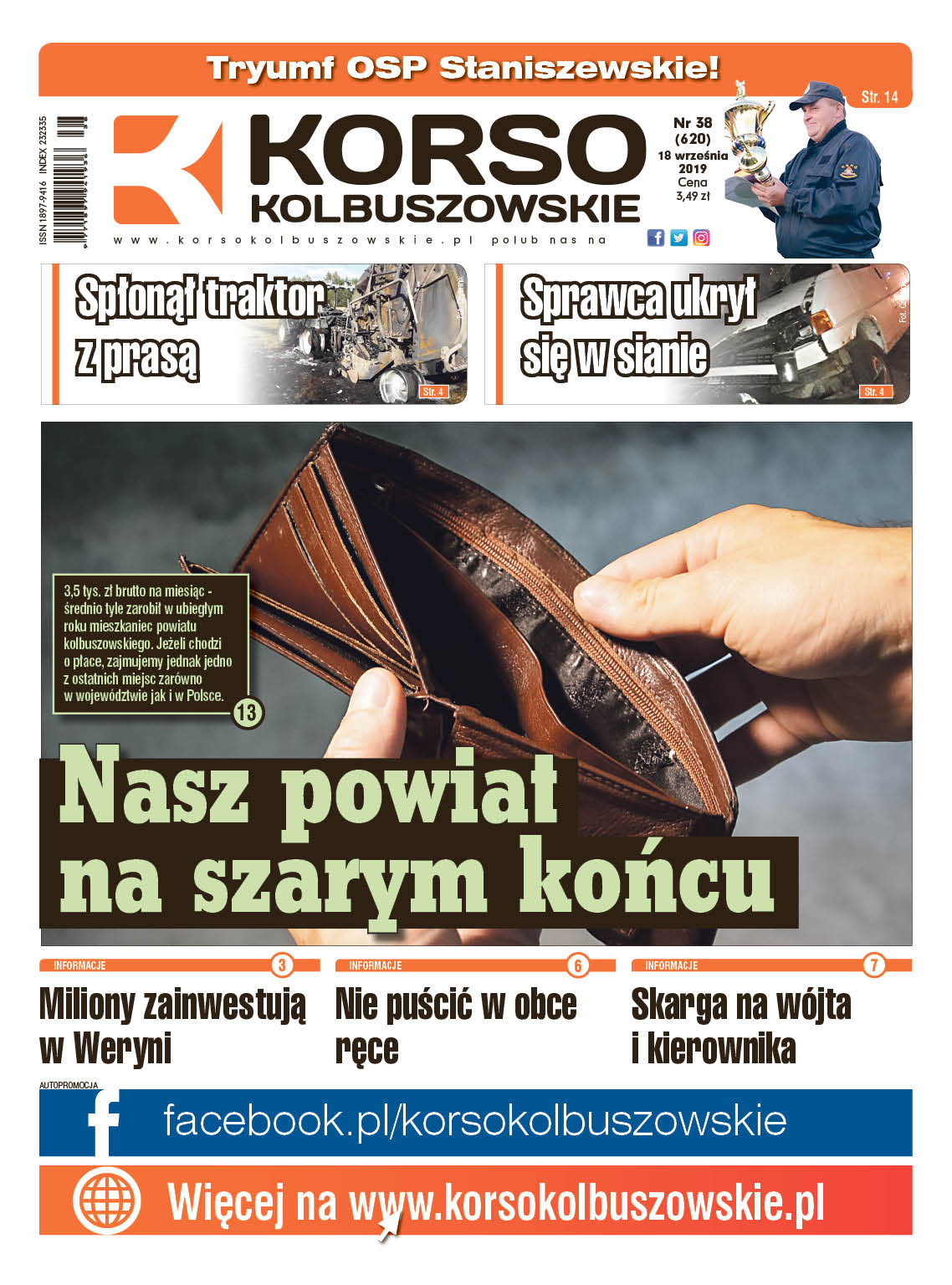Nowy numer Korso Kolbuszowskie - nr 38/2019 - Zdjęcie główne