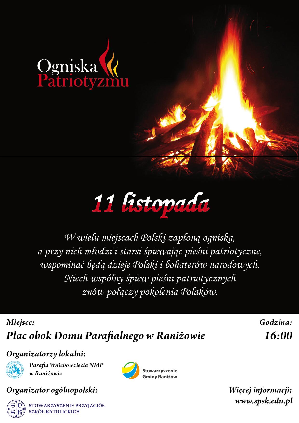 W poniedziałek w Raniżowie zapłonie Ognisko Patriotyzmu  - Zdjęcie główne