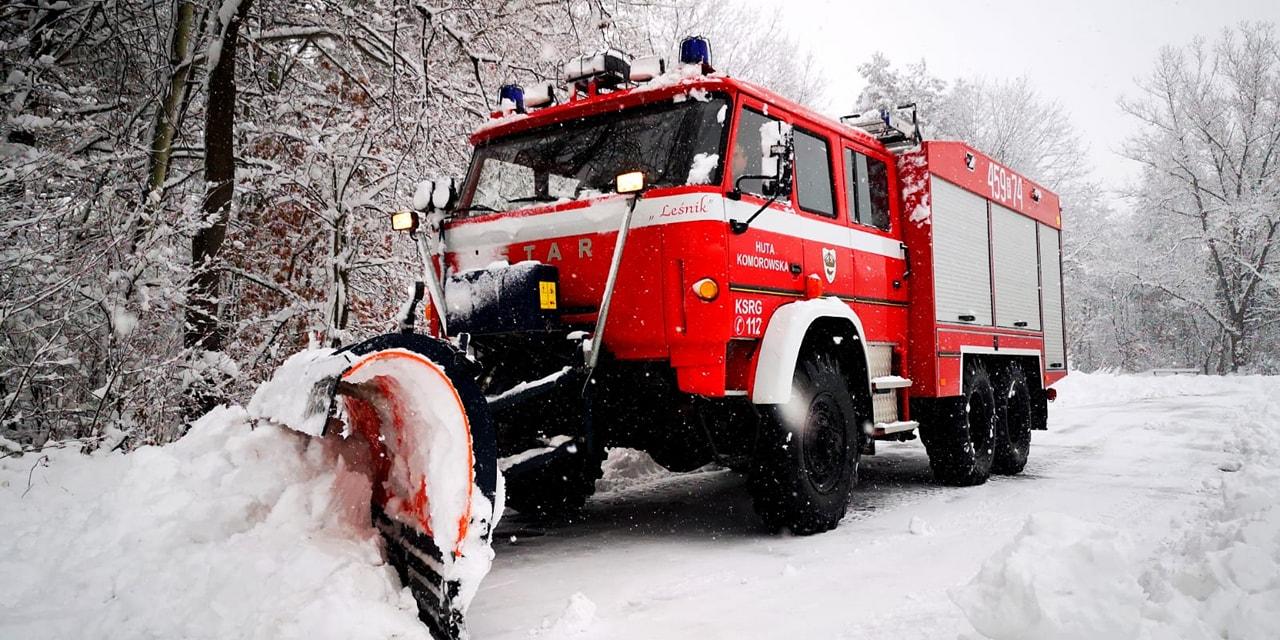 W tej gminie wozami strażackimi walczy się z zimą  - Zdjęcie główne