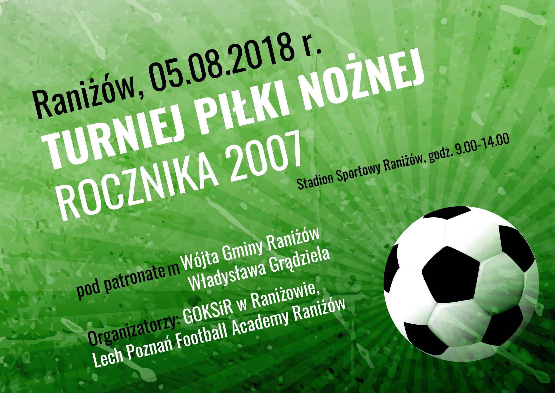 Gmina Raniżów. W najbliższą niedzielę, odbędzie się w Raniżowie Turniej Piłki Nożnej rocznika 2007  - Zdjęcie główne