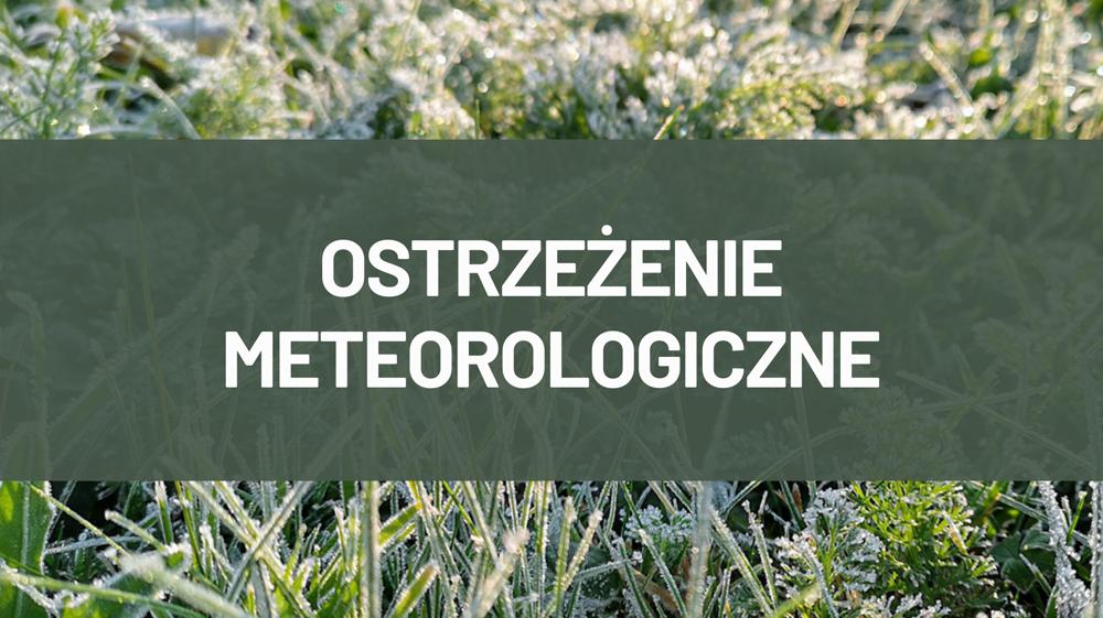 Ostrzeżenie pogodowe dla powiatu kolbuszowskiego - Zdjęcie główne