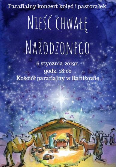 Gmina Raniżów. W niedzielę, 6 stycznia, w raniżowskim kościele odbędzie się koncert kolęd  - Zdjęcie główne