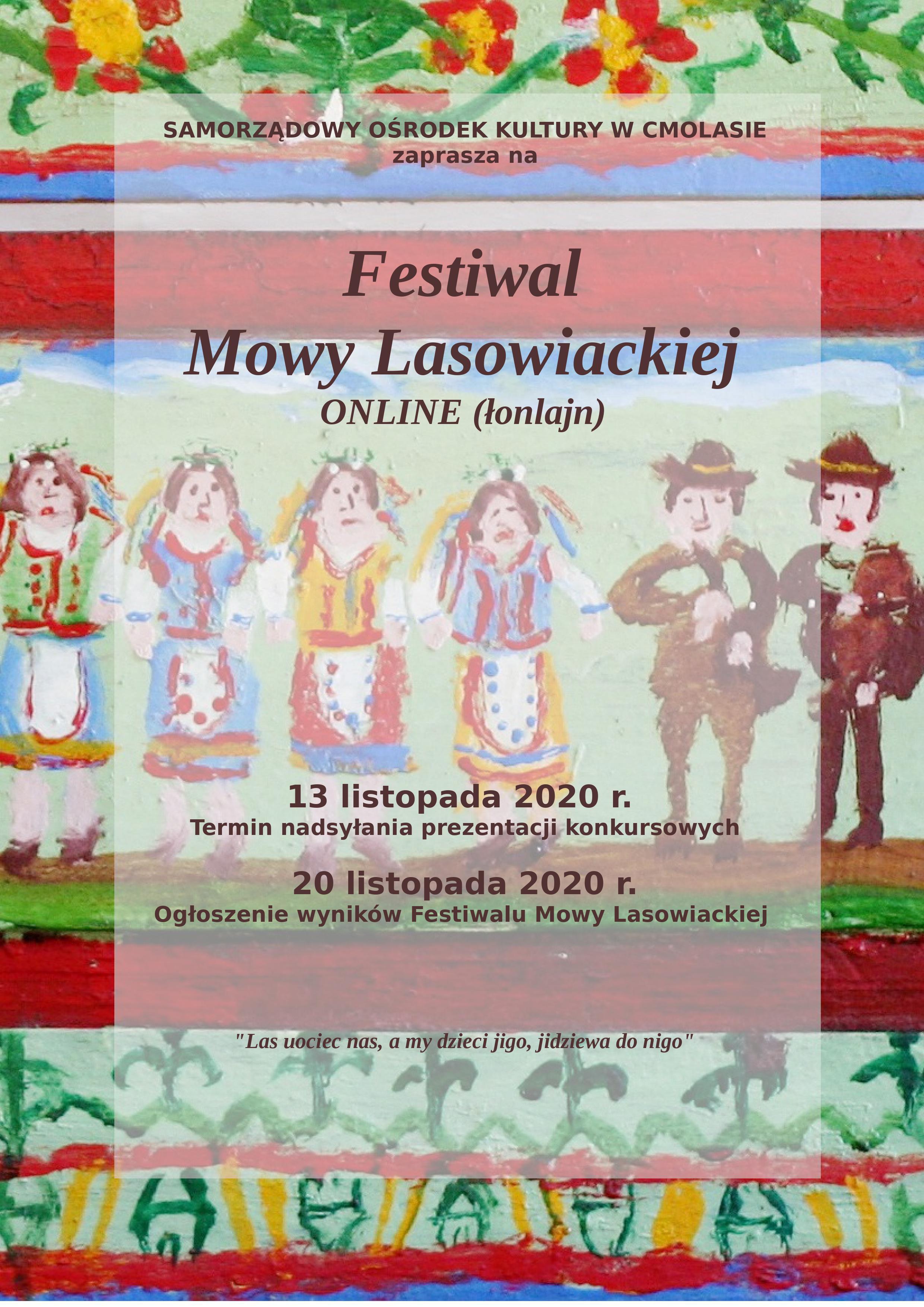 Festiwal Mowy Lasowiackiej w Cmolasie inny niż zwykle. Sprawdź szczegóły [PLAKAT] - Zdjęcie główne