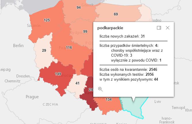 Raport zakażeń Covid-19 dotyczący powiatu i województwa [wtorek - 18 maja] - Zdjęcie główne