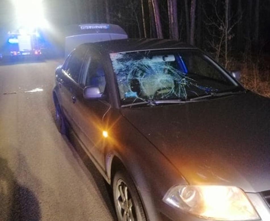 Wypadek w Rusinowie. Rowerzysta w szpitalu [FOTO] - Zdjęcie główne