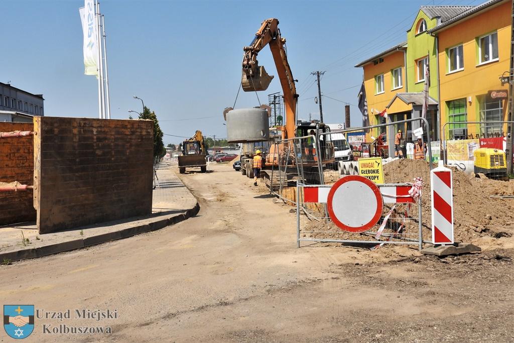 Kolbuszowa. Kolejny etap prac na ulicy Handlowej - Zdjęcie główne