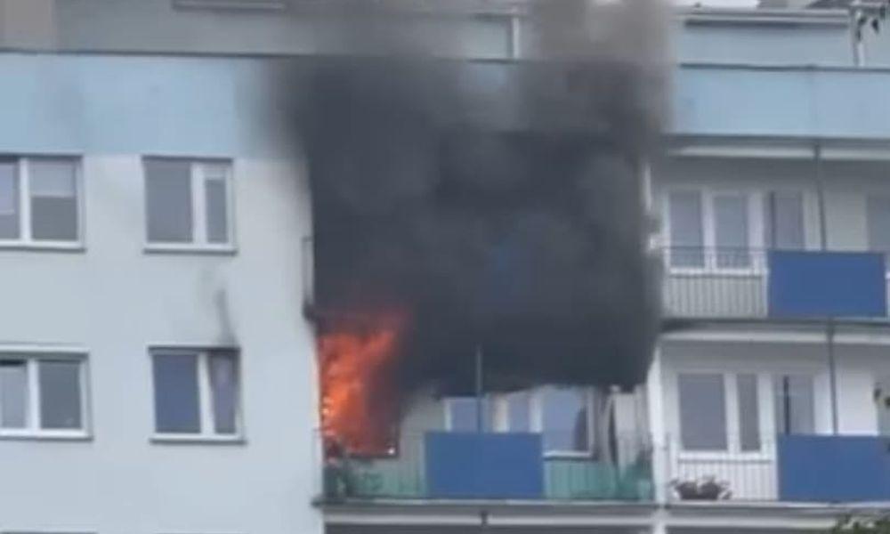 Pożar w Rzeszowie. Ogień w jednym z wieżowców! Trwa ewakuacja mieszkańców! - Zdjęcie główne