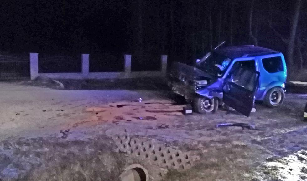 Wypadek w Hadykówce. Ranny kierowca [ZDJĘCIA] - Zdjęcie główne