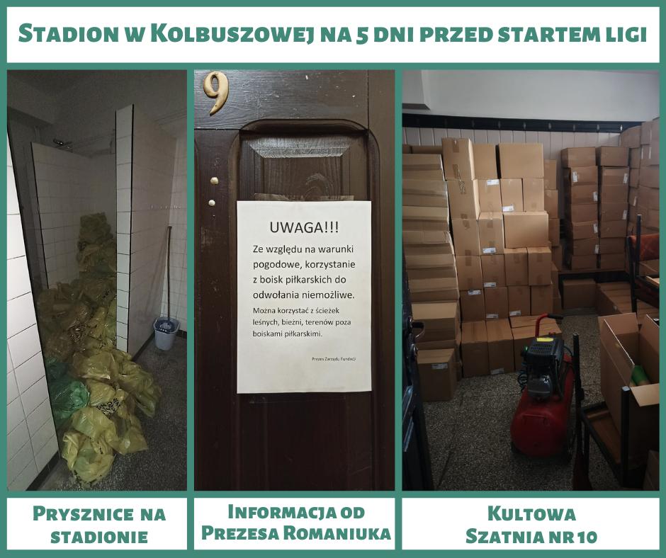 KKS Kolbuszowianka nie może trenować na stadionie w Kolbuszowej. W szatniach worki na śmieci i kartony! - Zdjęcie główne