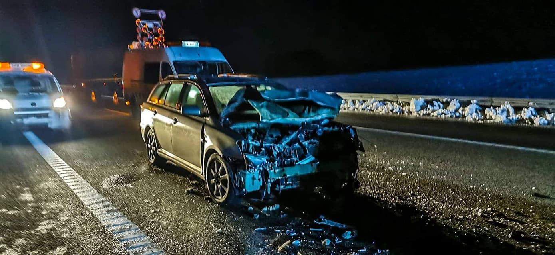 Poważny wypadek na autostradzie A4. 4 osoby w szpitalu - Zdjęcie główne