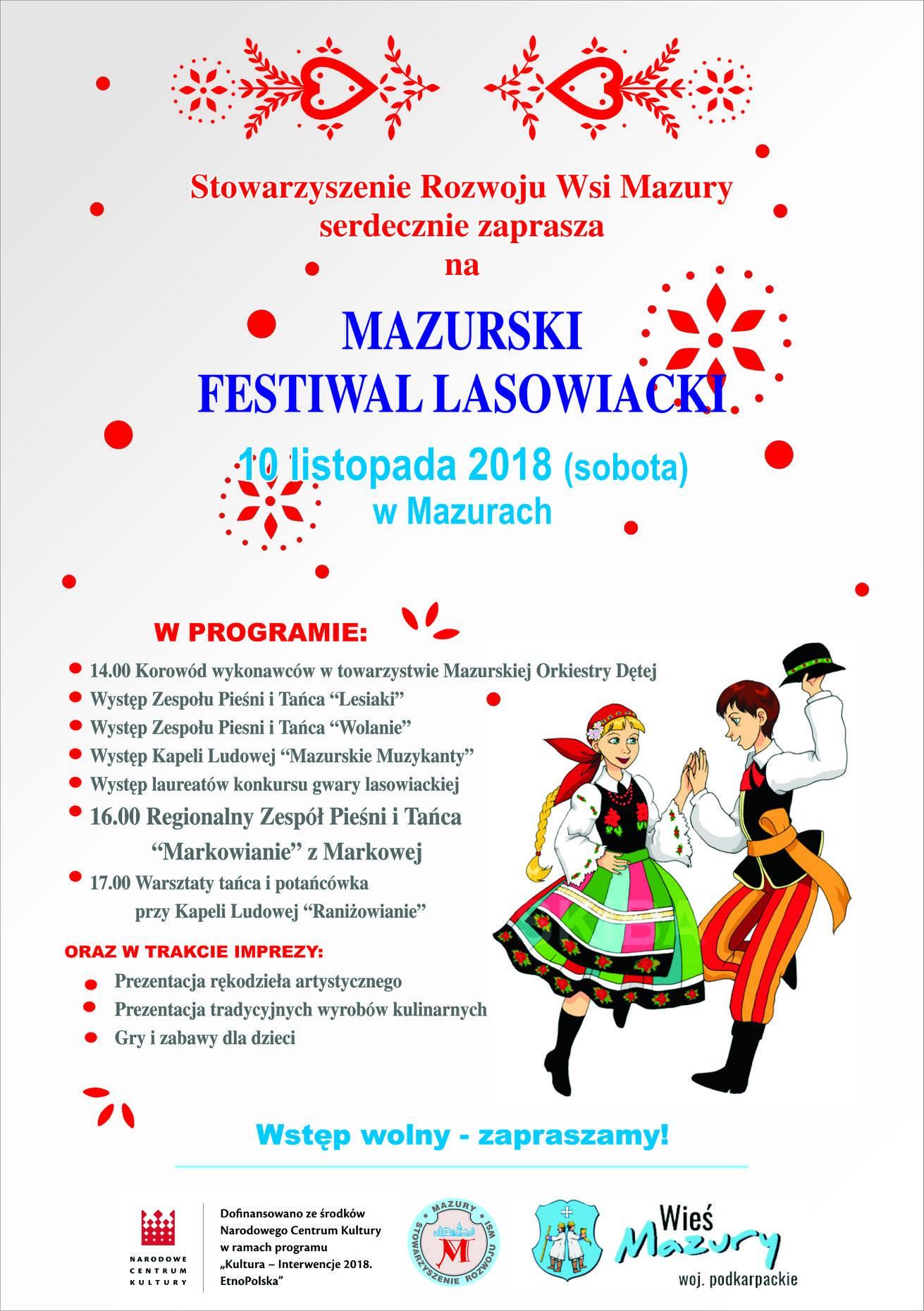 Gmina Raniżów. Już jutro odbędzie się Mazurski Festiwal Lasowiacki.  - Zdjęcie główne