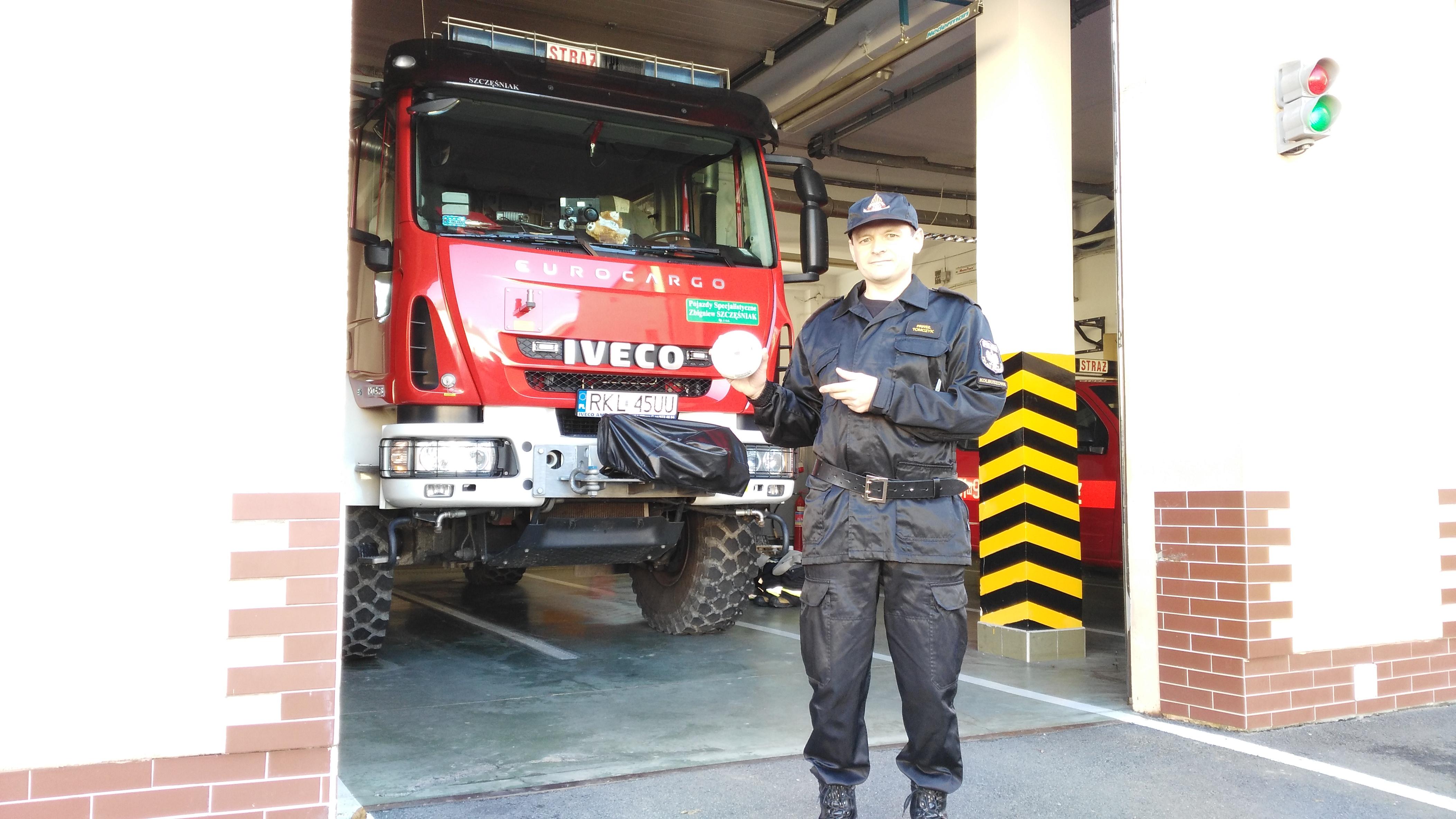 Spotkanie ze strażą w Dzikowcu. Do rozdania dla mieszkańców gminy czujniki tlenku węgla - Zdjęcie główne